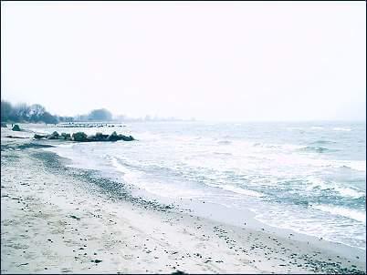 Angeln am Strand von Dahme