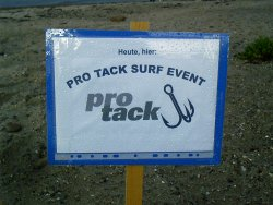 Pro Tack Cup , Strandschild