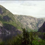 Fjord und Berge in Norwegen