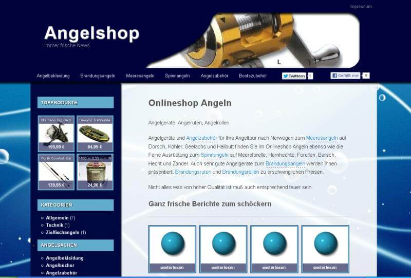 Top Level Domain Bootsangeln kaufen