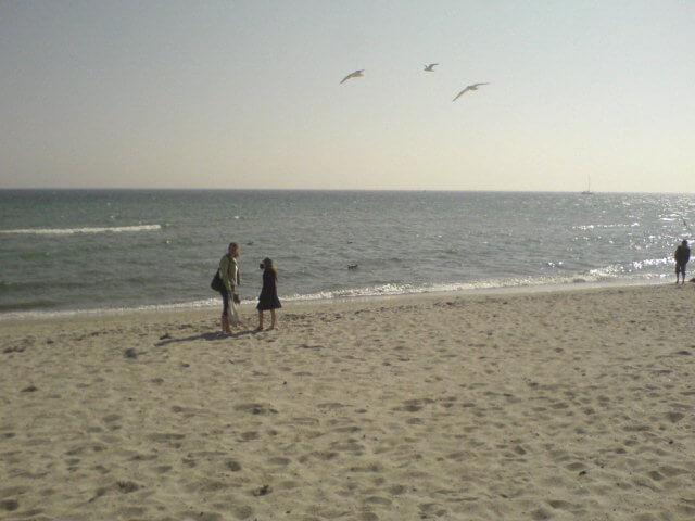 Spaziergang am Südstrand auf Fehmarn