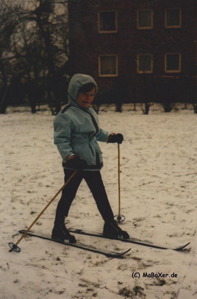 MaBoXer auf Ski 1970