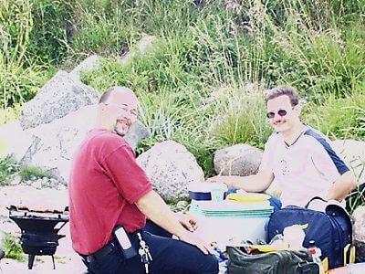 FunFishingTeam am Strand von Staberdorf auf Fehmarn 2005