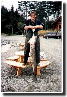 Mein größter Leng ( 45 Pfund bei 157 cm Insel Halsnoy Norwegen) © MaBoXer