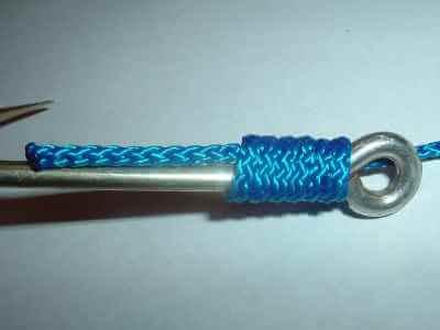 Knoten für Plättchenhaken